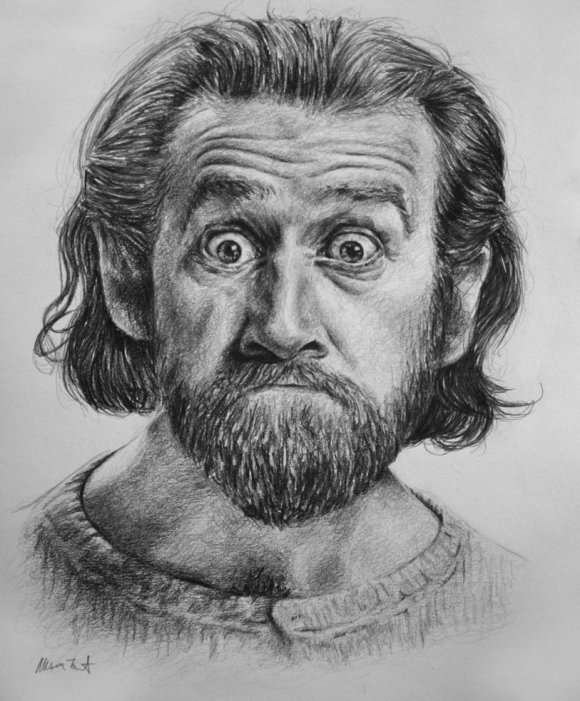 George_Carlin_Commission_by_ayaspiralout